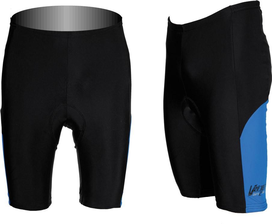 Cyklistické kraťasy SPORT do pasu pánské - černá/modrý bok