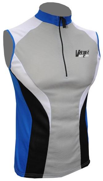 Cyklistický dres bez rukávů ACTION - modrý