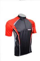 Cyklistický dres ACTIVE - černo/červený