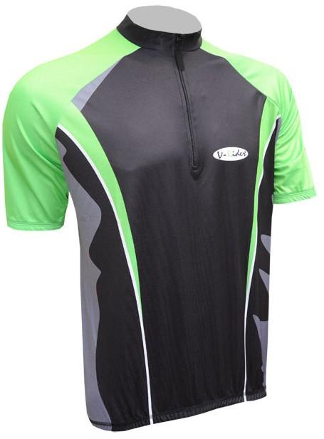 Cyklistický dres ACTIVE - černo/zelený