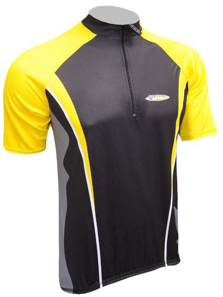 Cyklistický dres ACTIVE - černo/žlutý