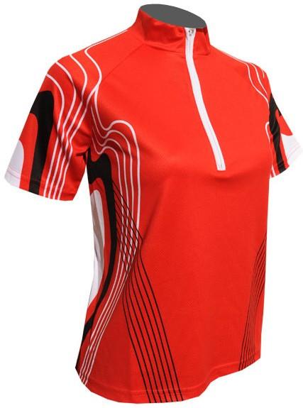 Cyklistický dres CINDY - červený