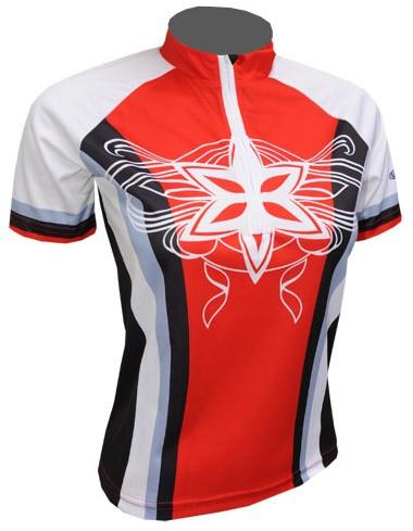 Cyklistický dres STAR - červeno/černý