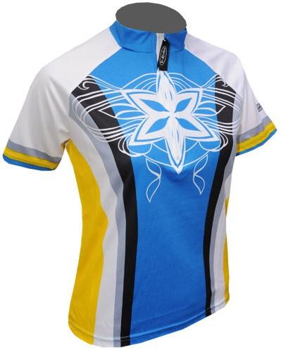 Cyklistický dres STAR - modro/žlutý