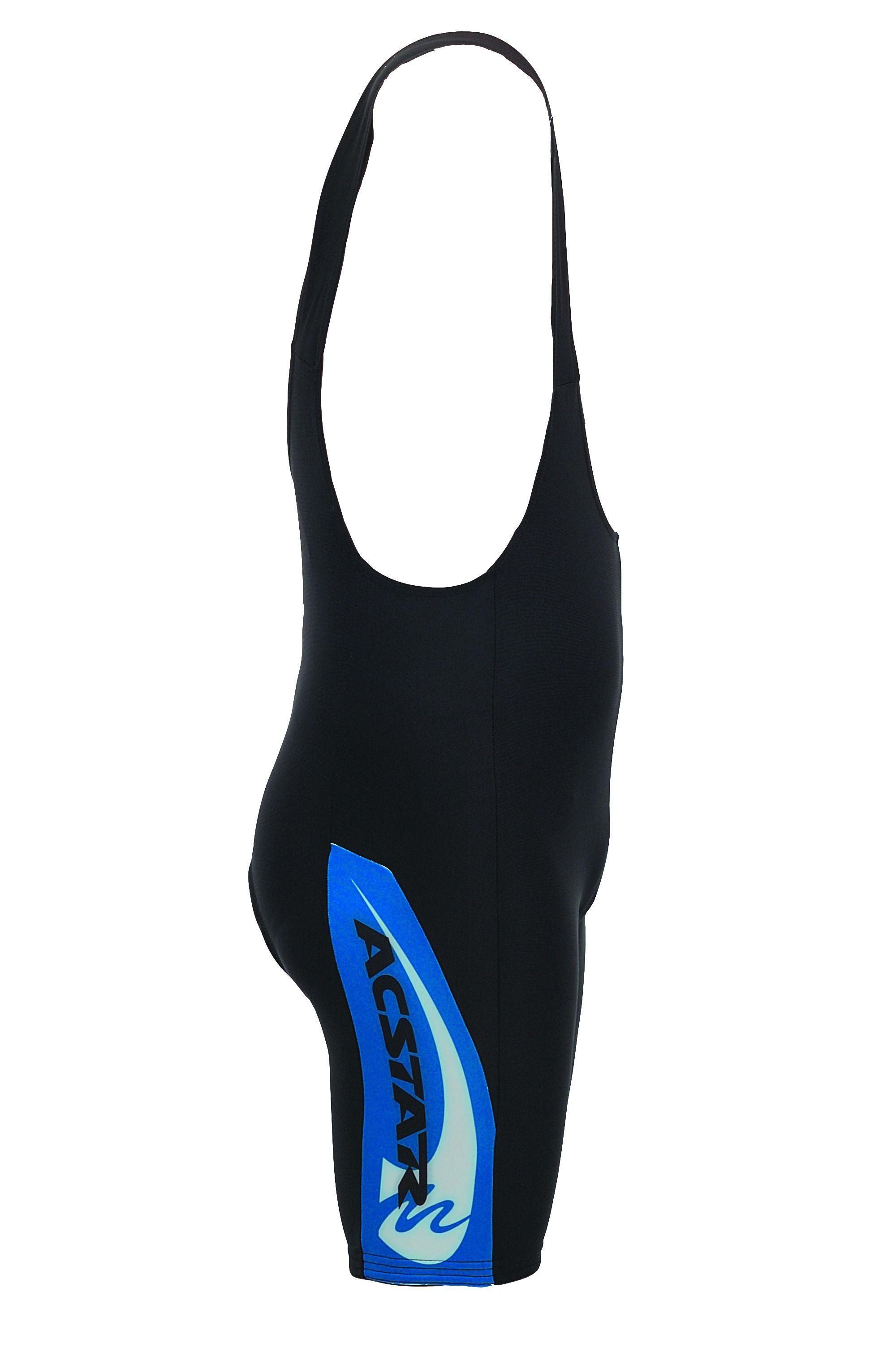 Cyklistické kraťasy ACSTAR s laclem - černá/modrý bok