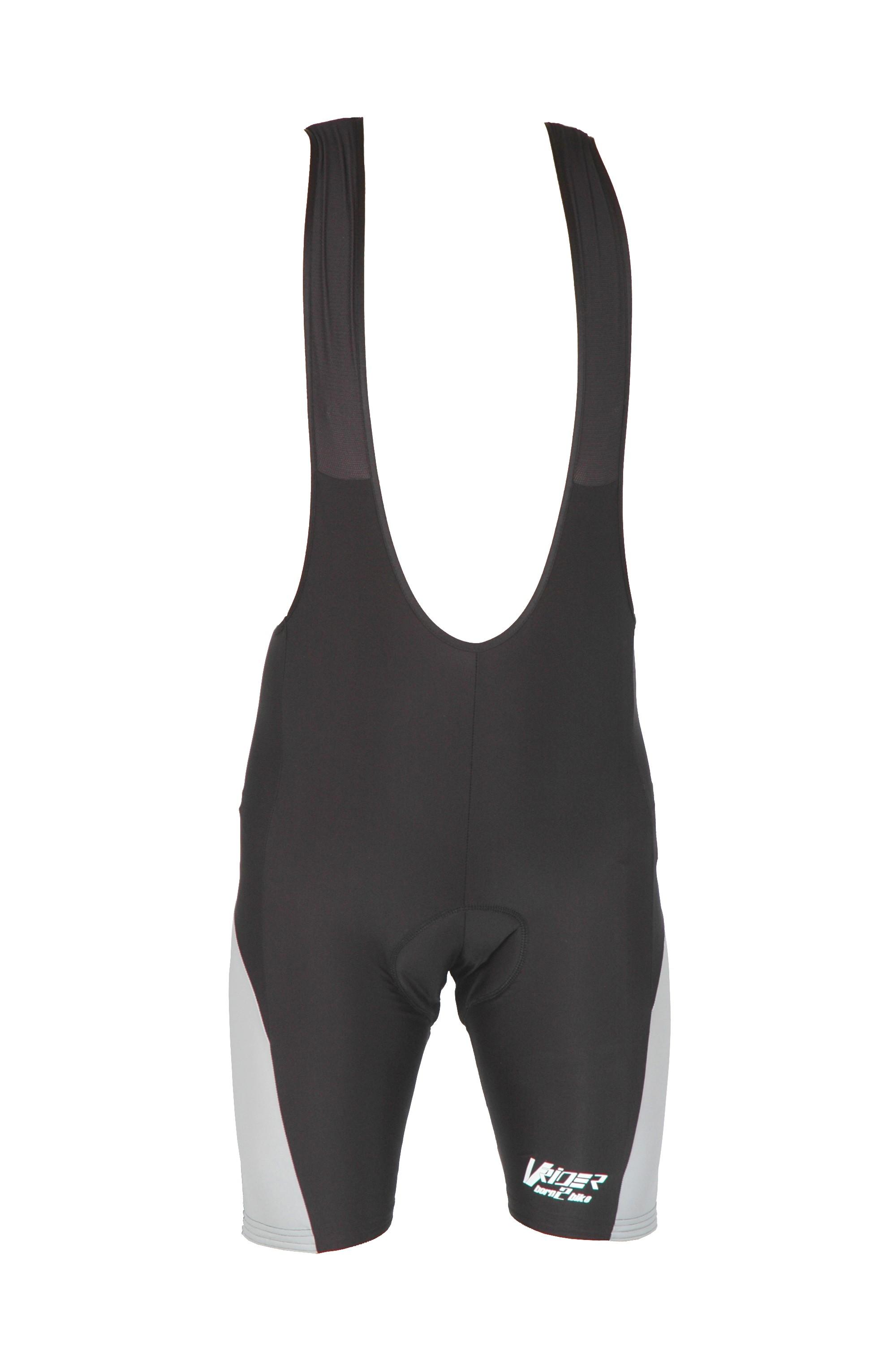 Cyklistické kraťasy SPORT s laclem - černá/šedý bok