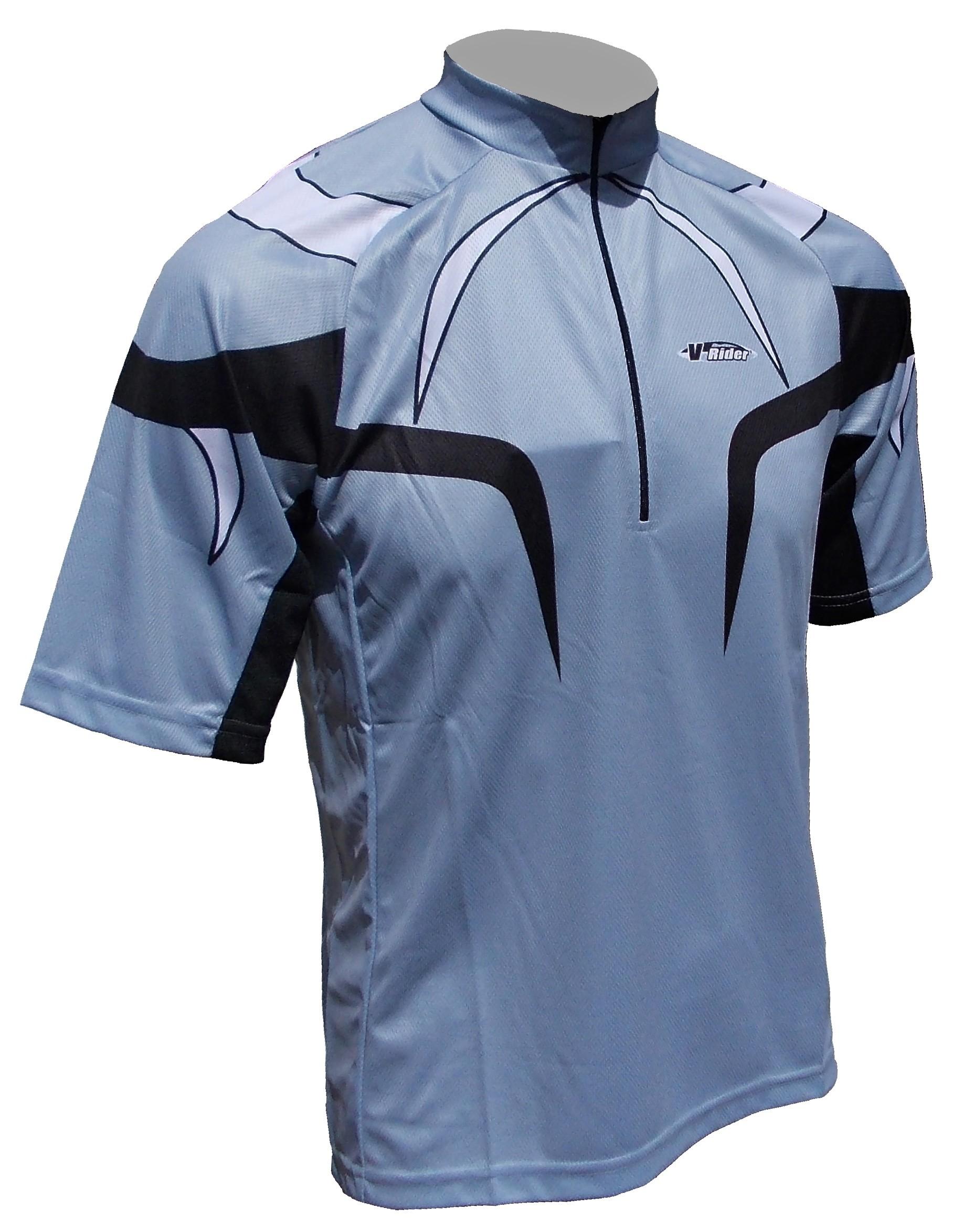 Cyklistický dres PROFI - šedý