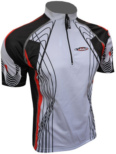Cyklistický dres RIDER COOLMAX - šedý