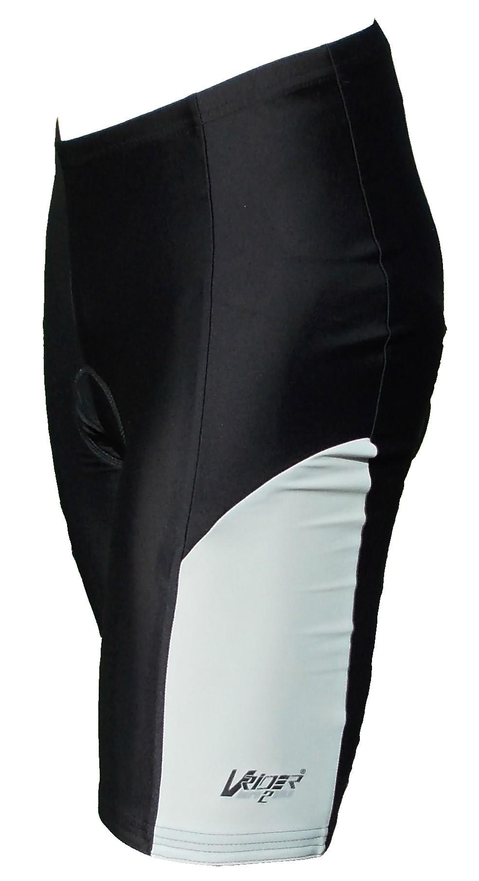 Cyklistické kraťasy SPORT do pasu pánské - černá/šedý bok