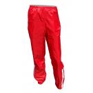 Šusťákové kalhoty - červená - velikost XS