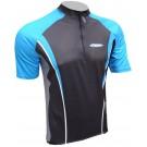 Cyklistický dres ACTIVE - černo/modrý