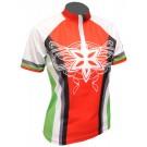 Cyklistický dres STAR - červeno/zelený