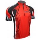 Cyklistický dres RIDER COOLMAX - červený